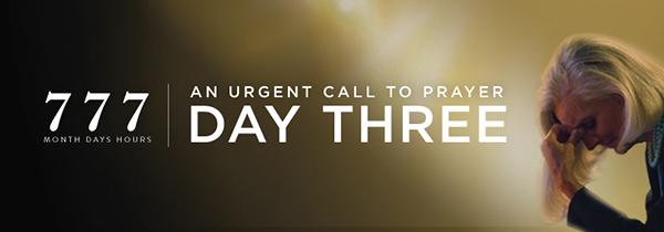 Day Three Call To Prayer